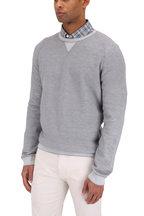 Ermenegildo Zegna - Light Gray Cotton & Cashmere Crewneck Sweater