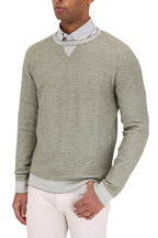 Ermenegildo Zegna - Olive Cashmere Blend Crewneck Sweater