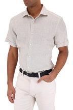 Ermenegildo Zegna - Natural Linen Short Sleeve Sport Shirt