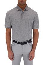 Ermenegildo Zegna - Gray Textured Cotton & Linen Polo
