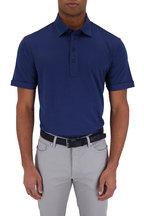Ermenegildo Zegna - Cobalt Blue Cotton & Silk Short Sleeve Polo