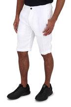 Z Zegna - White Garment Dyed Linen Shorts