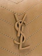 Saint Laurent - Nolita Monogram Taupe Vintage Leather Large Bag
