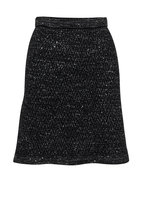 D.Exterior - Black Wool & Angora Blend Sweater Skirt