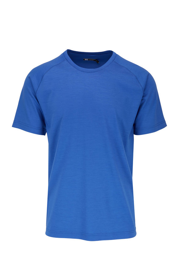 Z Zegna Blue Techmerino T-Shirt