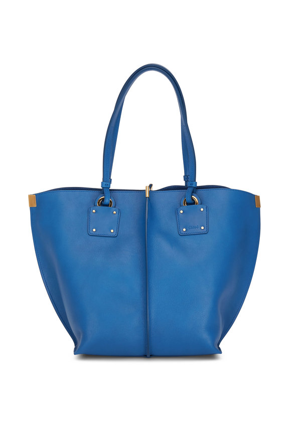 Chloé Vick Smoky Blue Leather Medium Tote