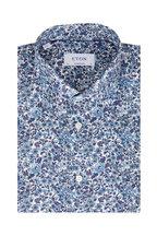 Eton - Blue Floral Contemporary Fit Sport Shirt