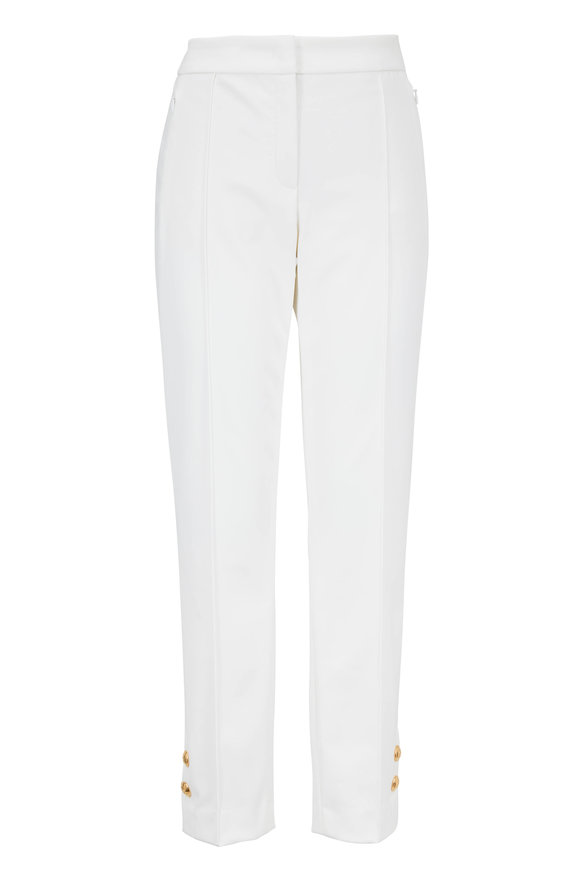 Escada Tuskona Off White Snap Cuff Pant