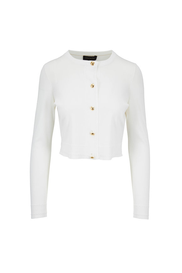Escada Sensi Off White Knit Cardigan