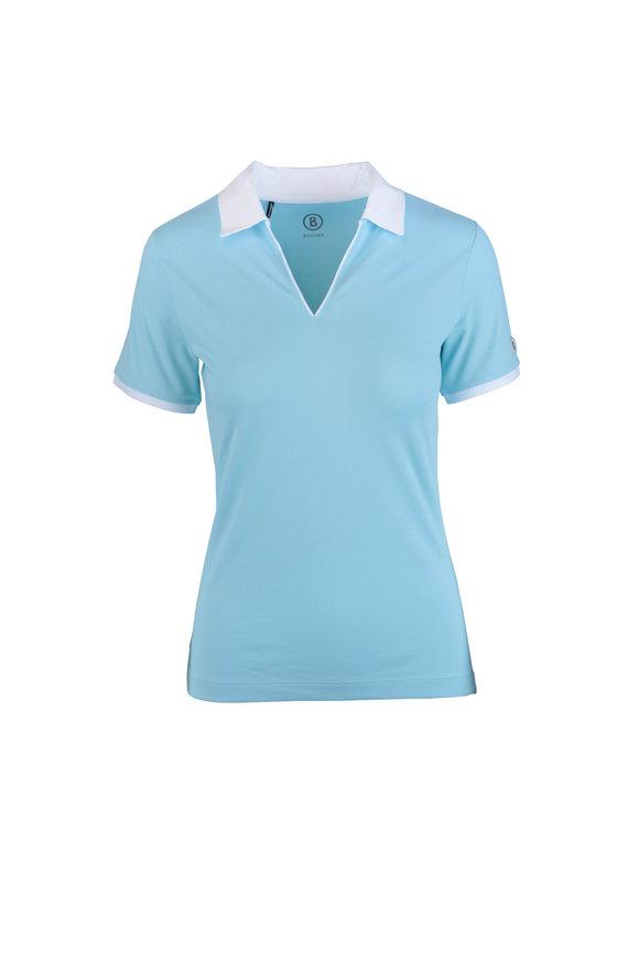 Bogner Lumi2 Light Blue Knit Polo