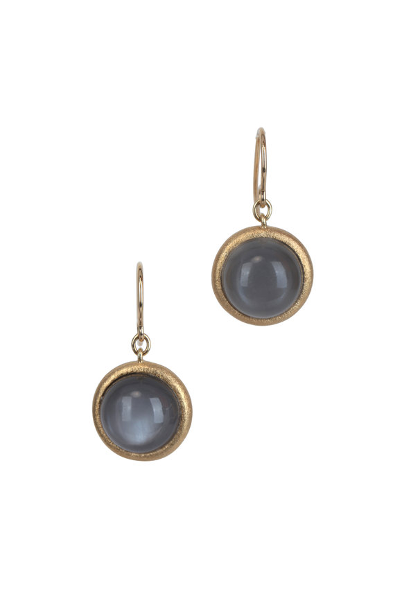 Aaron Henry 18K Yellow Gold Moonstone Drop Earrings
