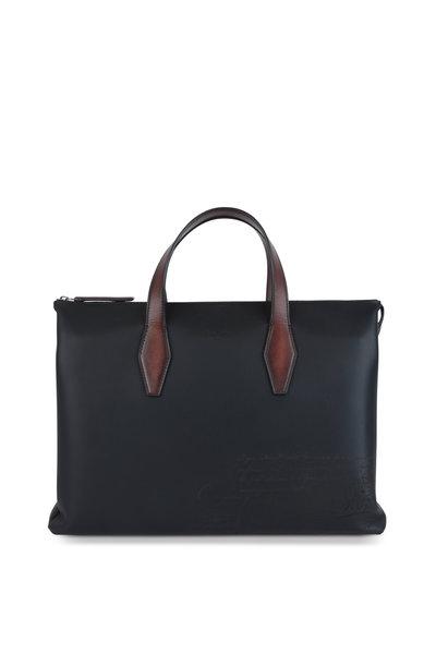 Berluti - Perspective II Black Leather Briefcase