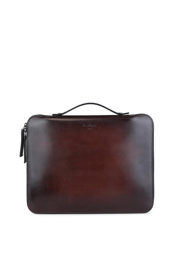 Berluti Nino Dark Brown Leather Portfolio