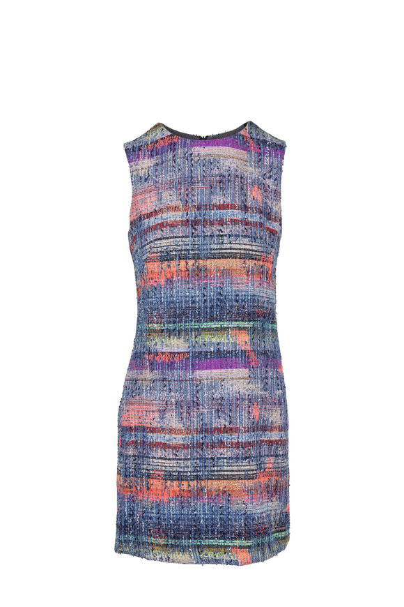 Emporio Armani Multi Textured Weave Sleeveless Dress