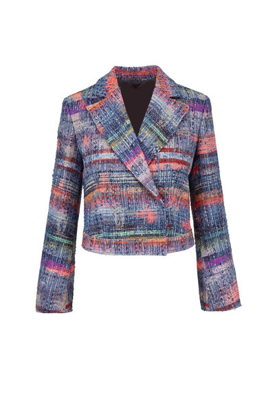 Emporio Armani - Multi Textured Weave Crop Jacket