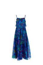 Emporio Armani - Multi Floral Camo Silk Sleeveless Maxi Dress