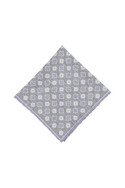 Paolo Albizzati - Sage & Lavender Silk Blend Pocket Square