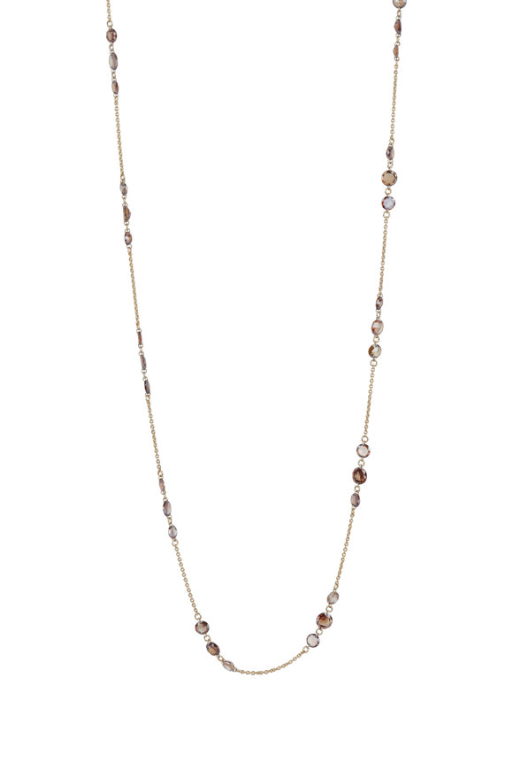 Paul Morelli 18K Yellow Gold Cognac Diamond Necklace