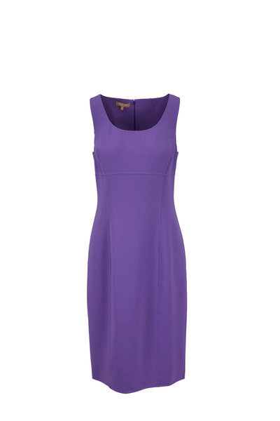 Michael Kors Collection - Violet Double-Faced Wool Sleeveless Dress