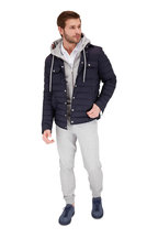 Moncler - Gray Signature Cuffs Front Zip Hoodie