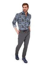 Baldessarini - Henry Blue Floral Pattern Sport Shirt