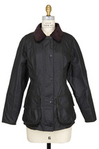 Barbour - Beadnell Olive Green Waxed Cotton Jacket