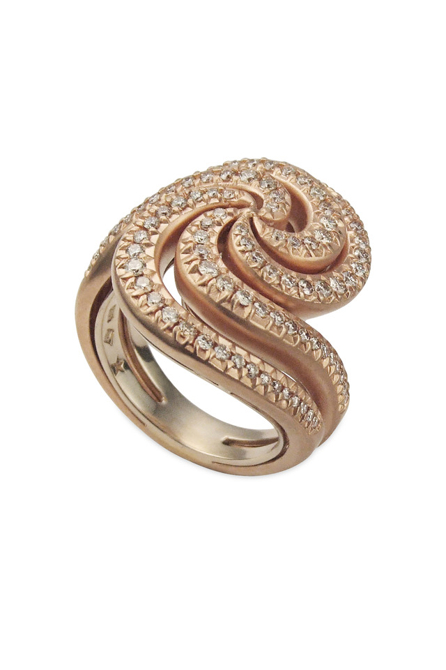 Iris Red Gold Diamond Ring