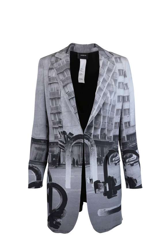 Akris Bloom Magnet Photo Print Jacket