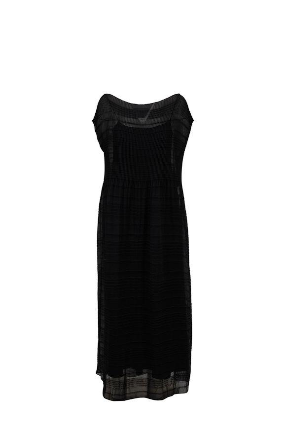 The Row Prado Black Vintage Crepe Long Tube Dress