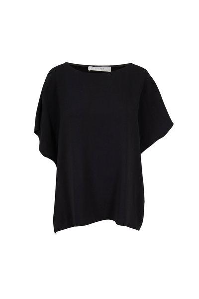 The Row - Lylia Shadow Chiffon Short Sleeve Blouse
