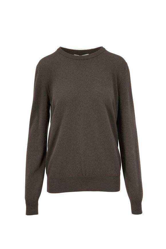 e56a693aa7a The Row Olive Grey Green Cashmere Sweater