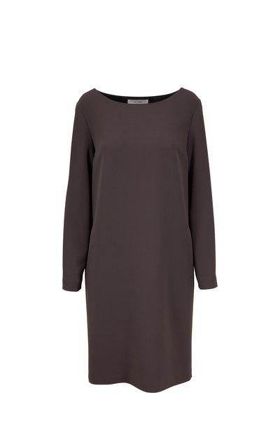 The Row - Sarina Ash Grey Techno Stretch Cady Dress