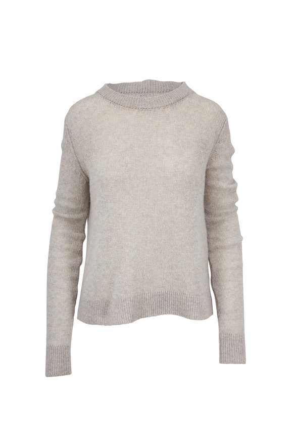 The Row Muriel Limestone Heavy Cashmere Knit Sweater