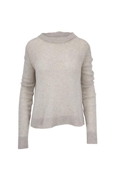 The Row - Muriel Limestone Heavy Cashmere Knit Sweater