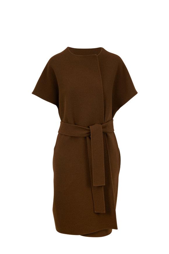 The Row Jill Foamy Wool & Cashmere Belted Vest