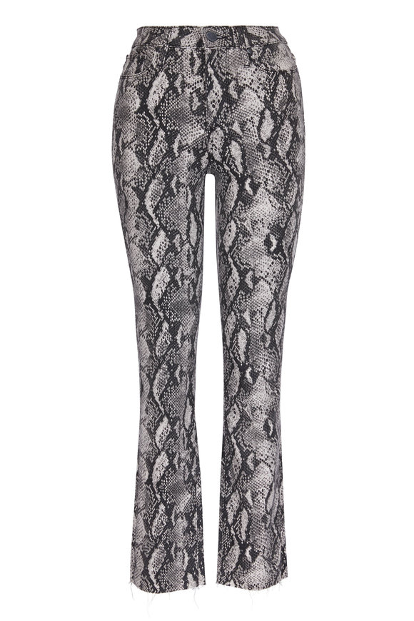 Paige Denim Hoxton Roccia Snake Print Slim Pant