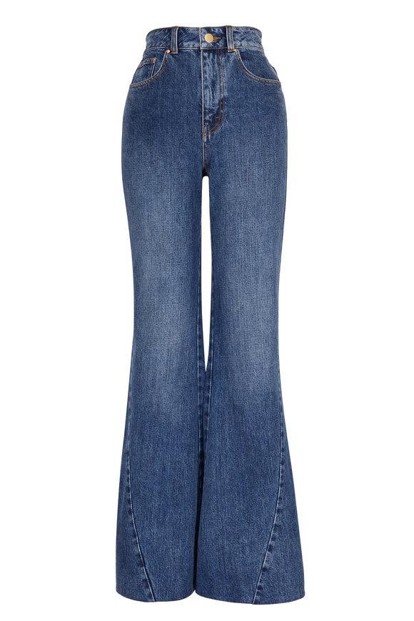 CO Collection Indigo Enhanced Seam Detail Flare Jean