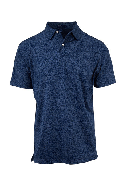 Peter Millar - Crown Crafted Navy Dizzy Printed Polo