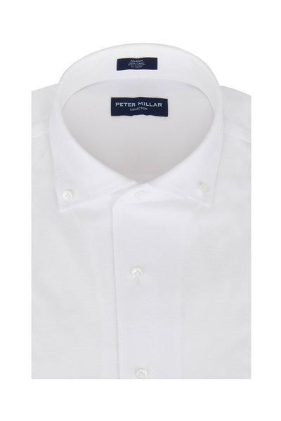 Peter Millar - Summer Mesh White Jersey Sport Shirt