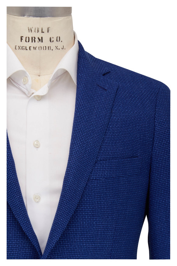 Atelier Munro Bright Blue Basketweave Wool Sportcoat
