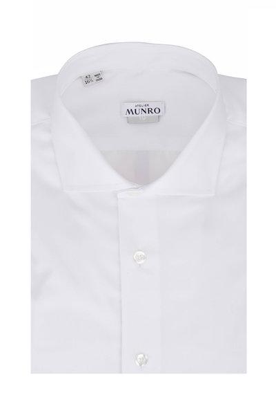 Atelier Munro - White Fine Twill Sport Shirt