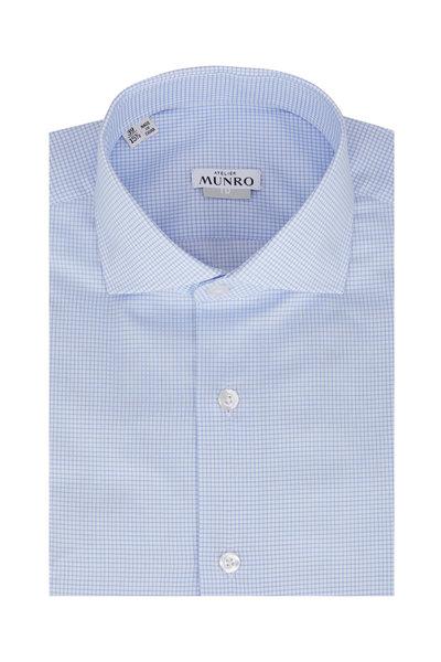 Atelier Munro - Light Blue Check Dress Shirt