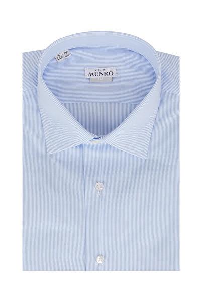 Atelier Munro - Light Blue Striped Dress Shirt