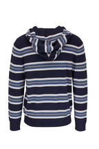 Vince - Heather Coastal Striped Knit Hoodie
