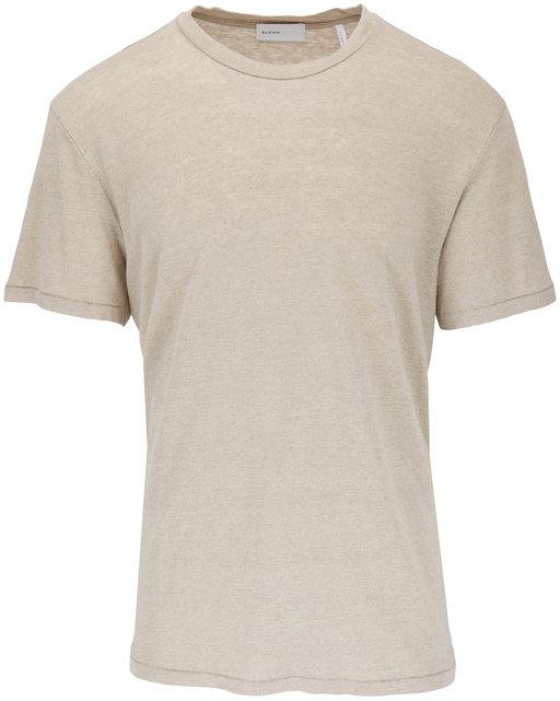 BLDWN Nolan Greige Linen T-Shirt