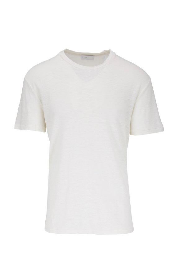 BLDWN Nolan Off White Linen T-Shirt
