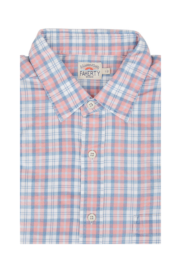 Faherty Brand Everyday Dusty Coral Sport Shirt
