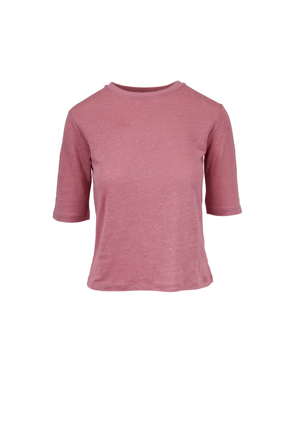 Vince Baies Linen Elbow Sleeve T-Shirt
