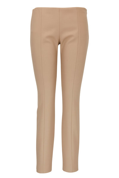 The Row - Kosso Khaki Double Wool Bi-Stretch Legging