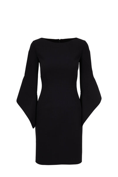 Michael Kors Collection - Black Double-Faced Wool Sheath Dress